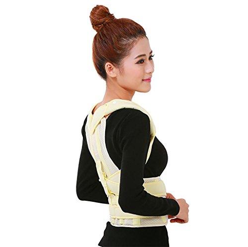 JZLV Adjustable Therapy Back Support Braces Belt Band Posture Shoulder Corrector for Fashion Health , l by JZL (Image #5)