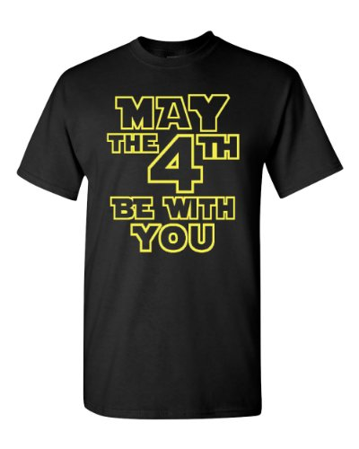 May The 4th Be With You Adult Black T-Shirt Tee