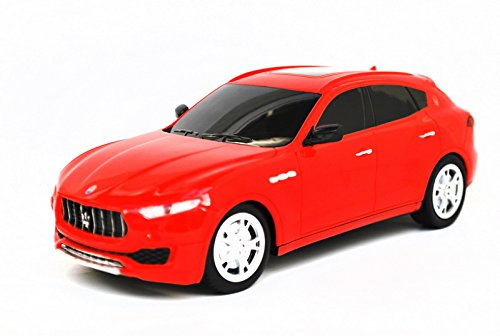 2017 Maserati Levante SUV Electric RC Car Radio Remote Control Vehicle Sport Racing Hobby Grade Licensed Model Car 1:24 Scale for Kids Adults (Red)