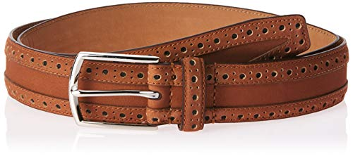 Cole Haan Men's 35mm Nubuck Leather Belt with Perforated Detail, Woodbury, 36