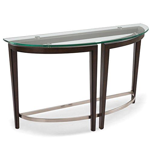 Magnussen Carmen Demilune Console - Console Demilune Table Glass