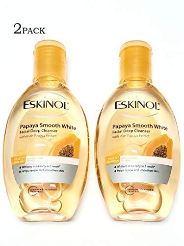 Eskinol Papaya Smooth White Facial Deep Cleanser w/Pure Papaya Extract 2x75ml