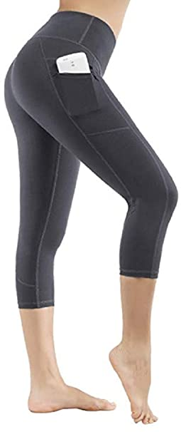 91dda1f082250c Ducomi IVY Leggings Donna Sportivi a Vita Alta con Tasche - Leggins  Fitness, Push up