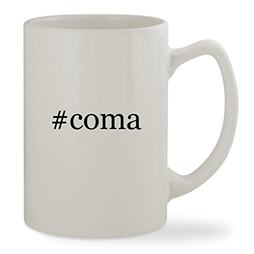 #coma - 14oz Hashtag White Statesman Sturdy Ceramic Coffee Cup Mug