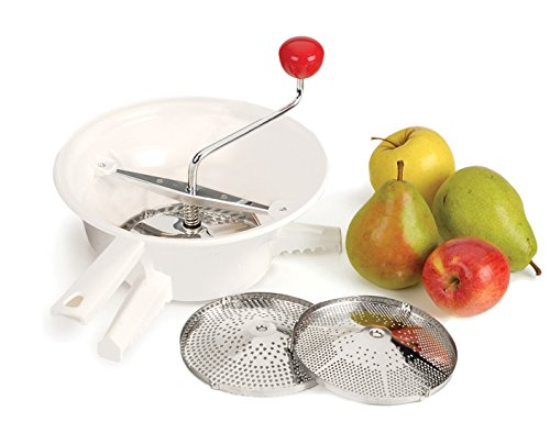 RSVP Classic Rotary Food Mill with Stainless Steel Interchangeable Disks (VEG-3)