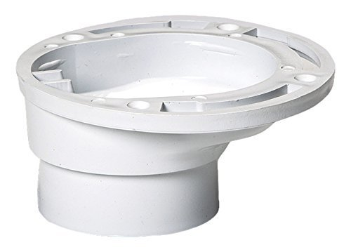 Plastic Oddities Offset Toilet Flange (POF100), Repairs Toilet Too Close/Too Far from Wall/Vanity, Fits over 3
