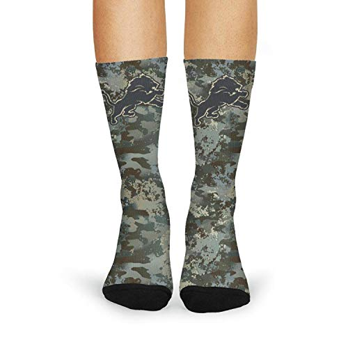 Womens Army Camo Cool Athletic Crew Cotton Knee High Long Boat Sockings Winter Wear