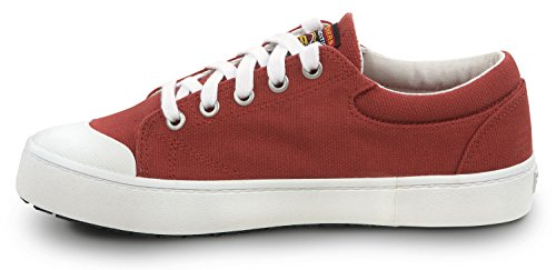 Skechers Dames Kendall Canvas Zachte Teen Antislip Skateschoen Rood / Wit