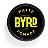 BYRD Hair Matte Pomade Mens Medium Hold/ Low Sheen, 1 OZ