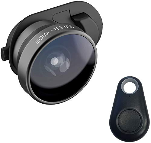 olloclip Multi-Device Clip with 3-in-1 Essential Lens Kit Includes Fisheye + Super Wide Angle + Macro - Compatible with iPhone, Pixel and Samsung Galaxy Smartphones + Selfie Bluetooth Remote Shutter