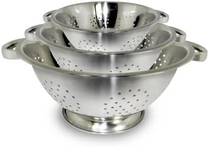ExcelSteel Stainless Steel Colanders, Set of 3