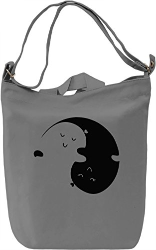 Ying Yang Hug Borsa Giornaliera Canvas Canvas Day Bag| 100% Premium Cotton Canvas| DTG Printing|