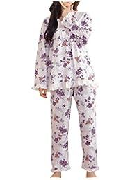 MyFav Big Girl Peony Rose Pajama Sets Winter Sleepwear Florals Nighty Homewear