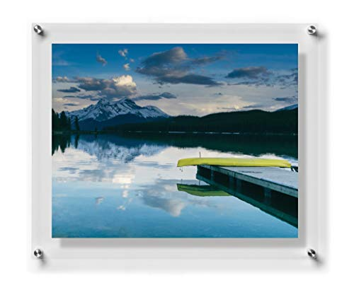 Wexel Art 23x27-Inch Double Panel Grade Acrylic Floating Frame with Silver Hardware for for, 20x24-Inch Art & Photos