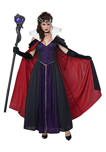 California Costumes Women's Evil Storybook Queen - Adult Costume Adult Costume, -black/Purple, -