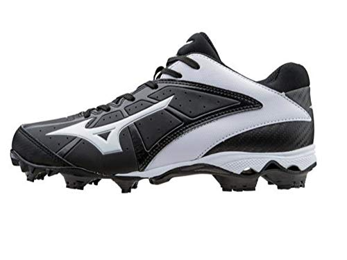 (Mizuno 9-Spike Advanced Finch Elite 2 Molded Fastpitch Softball Cleat Black/White 5)