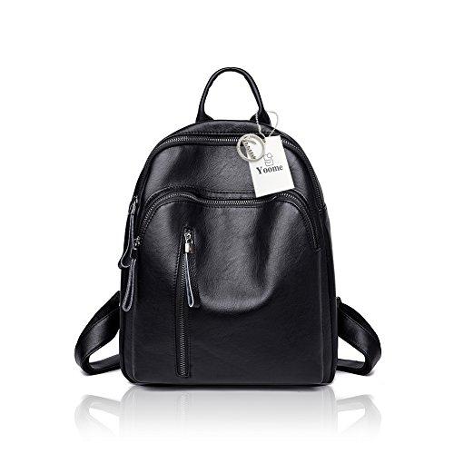 cuir à bourgogne les en sac Yoome à mode de filles sacs sac dos bandoulière main Noir contraste femmes pour couleur à Sac école IqIwnCPS8