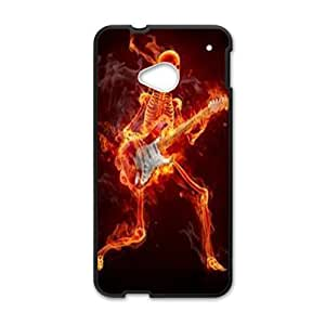 ZK-SXH - Flame Skull Brand New Durable Cover Case Cover for HTC One M7, Flame Skull Cheap Case