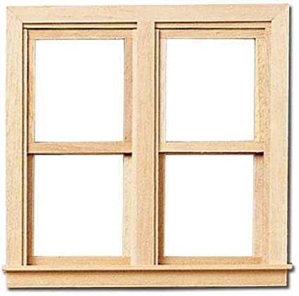 Traditional Side-by-Side Window 1:12 Scale dollhouse miniature wood Working
