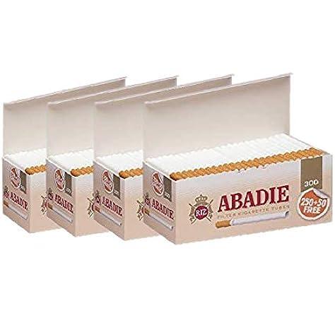 ABADIE 1200 Tubos Vacíos con Filtro de 15mm Para Tabaco de Liar (4 cajas de 300), Fabricado en España: Amazon.es: Salud y cuidado personal