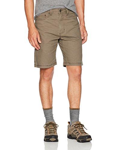 prAna Living Men's Bronson 9-Inch Inseam Shorts, Mud, 38