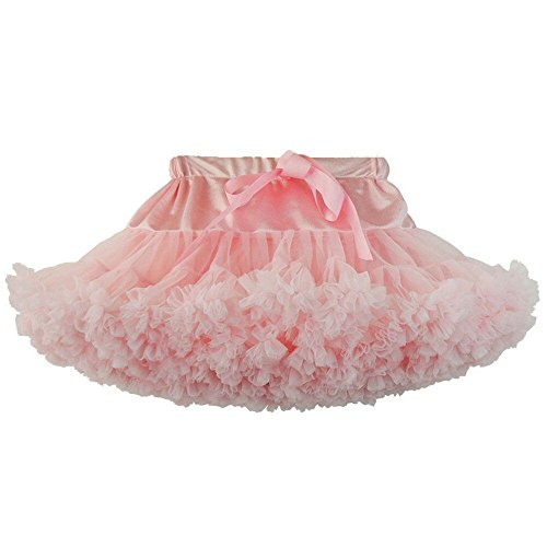 KoKoHouse Girl's Tutu Skirts Multi-Layer Petticoat Underskirt Colored Crinoline (S, Pink)