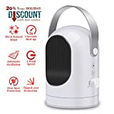 Naker Store Mini Personal Portable Desktop Ceramic Space Heater Electric Heater Fan with Natural/Hot Modes & Auto Oscillating Settings, Fast Heating with Auto Shut-Off Overheat Protection for Office Review