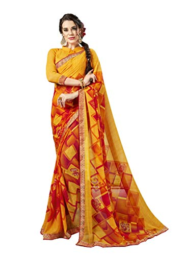 (Indian Bollywood Designer Ethnic Wedding Party Wear Georgette Saree Sari S6215 Yellow)