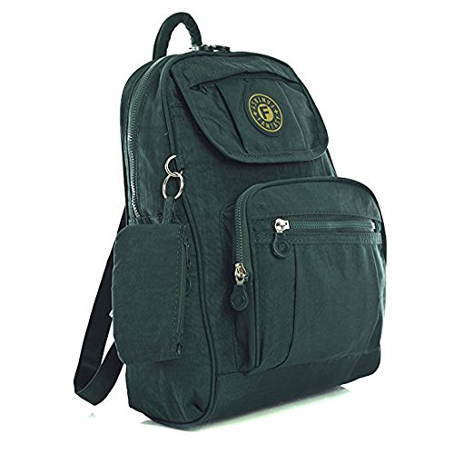 Womens Ladies Mini Fabric Backpack Rucksack Girls School Bag College Womens Shoulder Gym Bag Dark Green