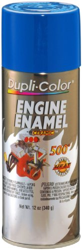 - Dupli-Color DE1621-6 PK (EDE162107-6 PK) Old Ford Blue Engine Enamel with Ceramic - 12 oz. Aerosol, (Case of 6)