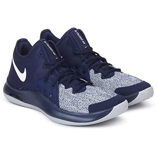 Nike Men's Air Versitile III Basketball Shoe (10.5, Midnight Navy/White/Wolf Grey) (Nike Mens Basketball Shoes)