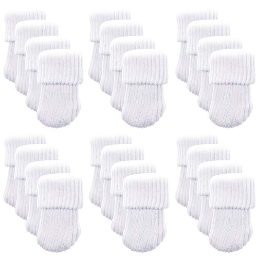 NYKKOLA Knitting Wool Socks Chair Leg Floor Protector Furniture Pads, White(24pcs)