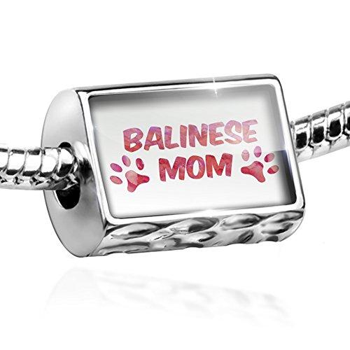 Bead Dog & Cat Mom Balinese Charm Fits All European Bracelets Balinese Bead Bracelet