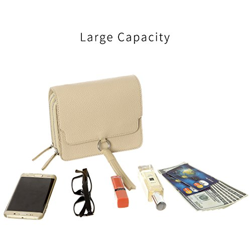 wallet Crossbody Smartphone Purse For for women phone Women Phone HAIDEXI Crossbody purse Women holder Cell Apricot Bags Small dCCOrw