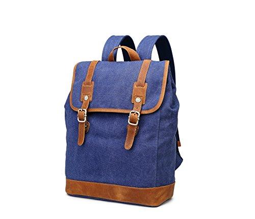Meoaeo Bolsa De Ordenador Xishui Hombro Hombro Bolsa De Lona Hombres Hombres Y Mujeres Travel Caqui blue