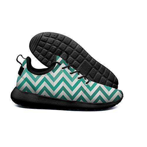 DEEEWKF Green Wavy Strips-01 2018 On-line Women's 2018 Ultra Lighweight Classic Shoes Black