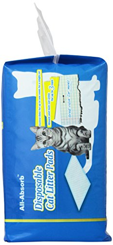 All Absorb 20 Count Cat Litter Pads 17 1 By 11 8 Inch