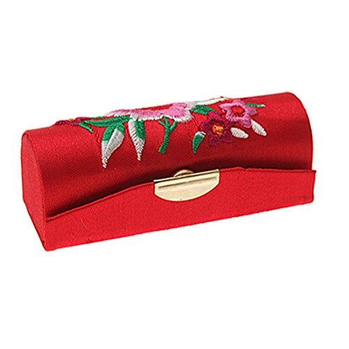 Red-Embroider-Flower-Chinese-Classic-Hard-Lipstick-Box