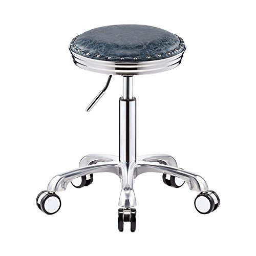 ble Gas Lift Swivel&Removeable PU Leather Hairdressing Manicure Tattoo Therapy Beauty Massage Spa Salon Stool Chair (Color : 4, Size : 50cm) ()
