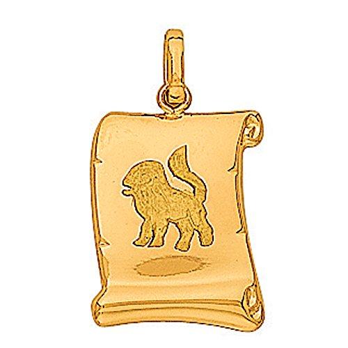 So Chic Bijoux © Pendentif Zodiaque Lion Parchemin Or Jaune 750/000 (18 carats)