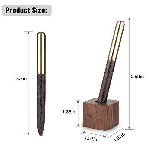 Wooden Fountain Pen with Pen Holder Gift Set, Perfect Business, School, Anniversary Gift TTF02