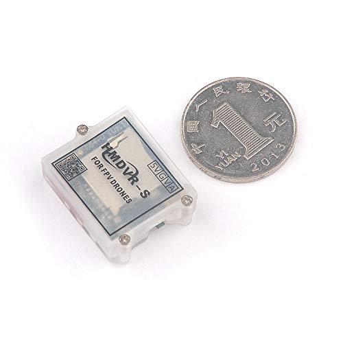 HMDVR-S 4:3 640x480 Micro FPV DVR Recorder Video Audio Recorder for Brushless Whop 2/3 inch Micro Racing Drone Quad FPV Goggle Surveillance DVR Recorder