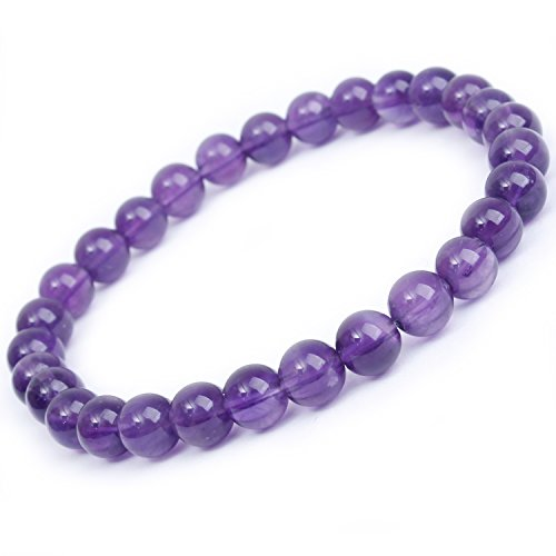 - MOON FAIRY Amethyst Beaded Bracelet : Lavender - 6.8