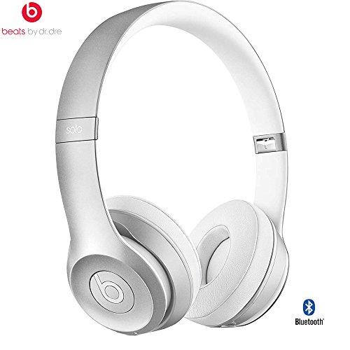 Beats By Dre Solo2 Wireless On-Ear Headphone, MHNM2ZM/A - (Certified Refurbished) (Silver)