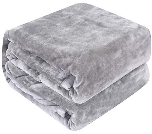 - Qbedding Inc. Luxury Collection Microplush Flannel Fleece Blanket | Ultra Soft 380 GSM Lightweight All-Season Anti-Static Throw/Blanket for Sofa Couch Bed (Throw (50'' x 60''), Gray)