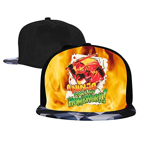 Unisex Fire_Ninja_G0 Baseball Cap Hip Hop Snapback Adjustable Flat Bill Hat for Men Women Gray -