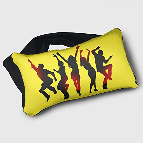 Voyage Travel Pillow Eye Mask 2 in 1 Portable Neck Support Scarf Dance Ergonomic Naps Rest Pillows Sleeper Versatile for Airplanes Car Train Bus Home Office by Barton