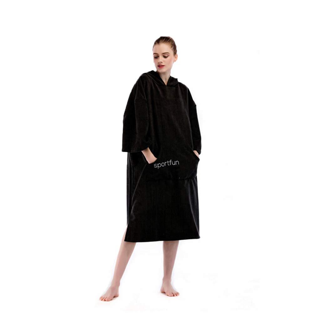 Produits de salle de bain Surf Swimming RemplaceHommest de costume de plongée, compact et léger, absorption de l'eau élevée, convient à tous (noir) Microfibre Adulte Unisexe s'habiller capuche longue ser