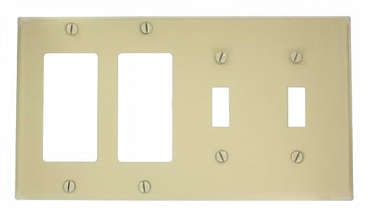 Leviton P2262-W 4-Gang 2-Toggle Decora/GFCI Device Combination ...