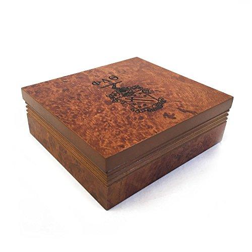 Phi Delta Theta Fraternity Wood Pin Box Marble Effect Elegantly Engraved Greek Letter Phi Delt
